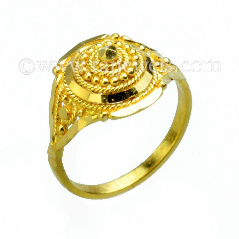 22k Gold Ball Design Baby Ring