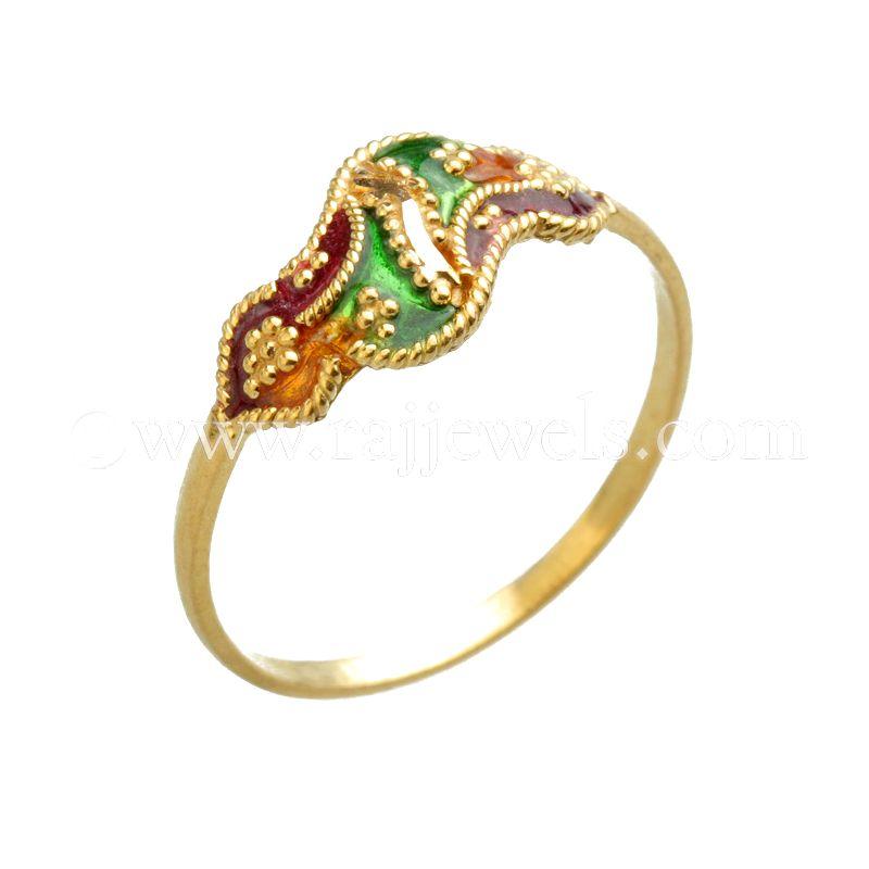 22k Gold Enamel Baby Ring
