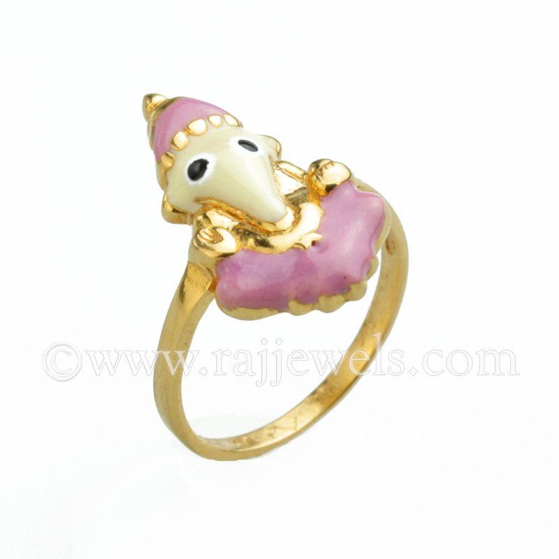 22k Gold Baby Ganesha Gold Ring