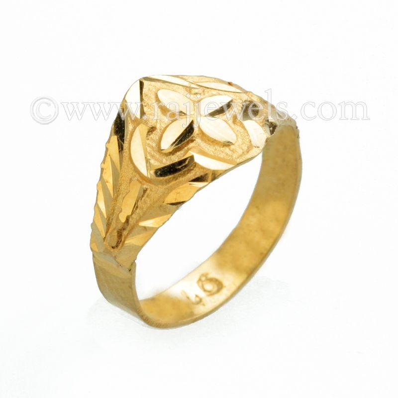 22k Gold Radiance Gold Baby Ring