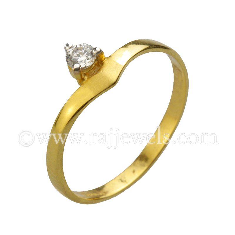 22k Gold 22K Gold Cz Baby Ring