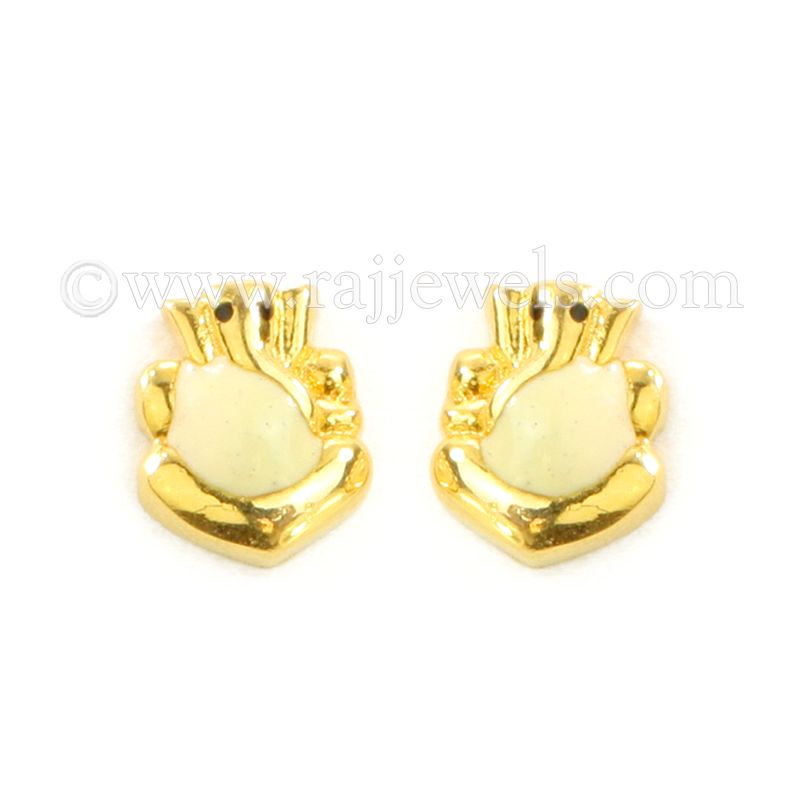 22k Gold Yellow Ganesha Gold Earrings