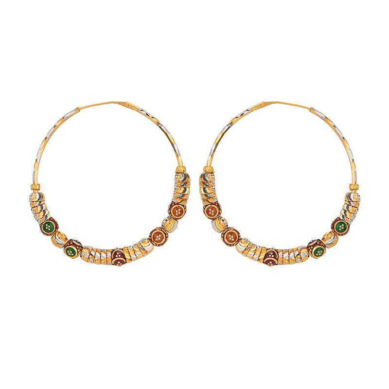 22k Gold 22K Gold Hoop Earrings