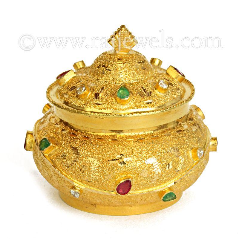 22k Gold Blossom Gold Sindoor Box