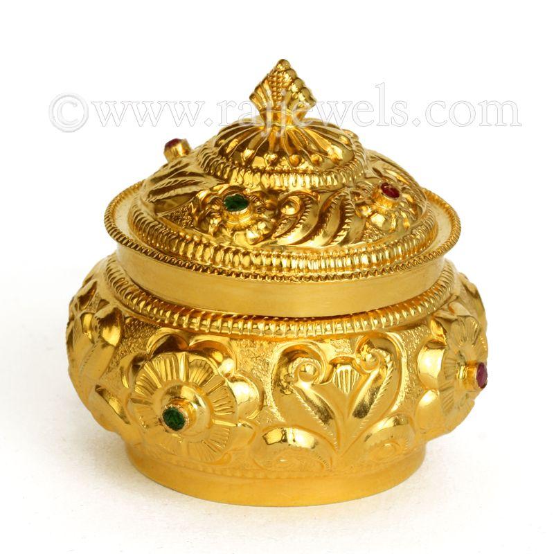 22k Gold Floretta Sindoor Box