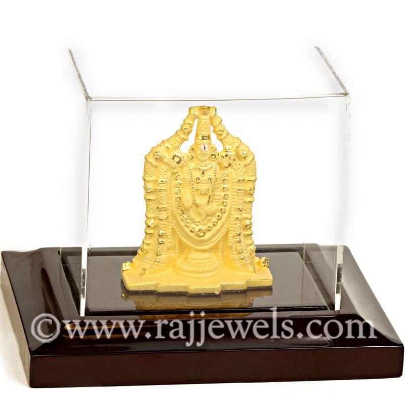 24k Gold Small Tirupati Balaji Statue
