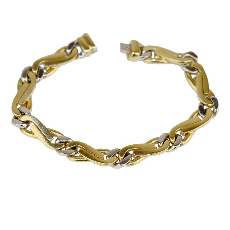 18k Gold Two Halves Gold Bracelet