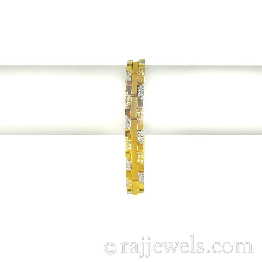 22k Gold Men's Gold Fences Bracelet