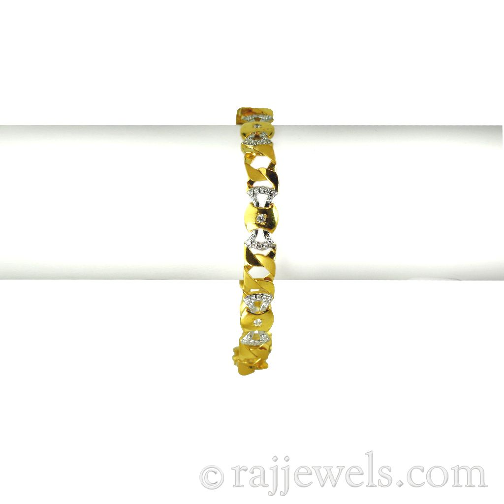 22k Gold 22 K Gold Mens Bracelet
