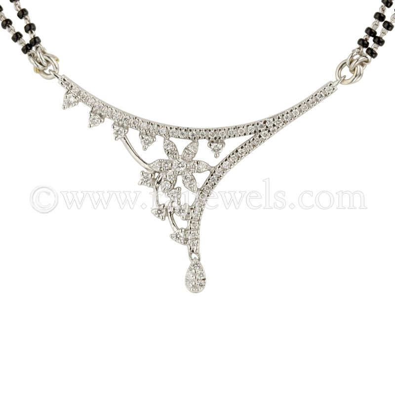 18k Diamond Artistic Pendant Mangalsutra
