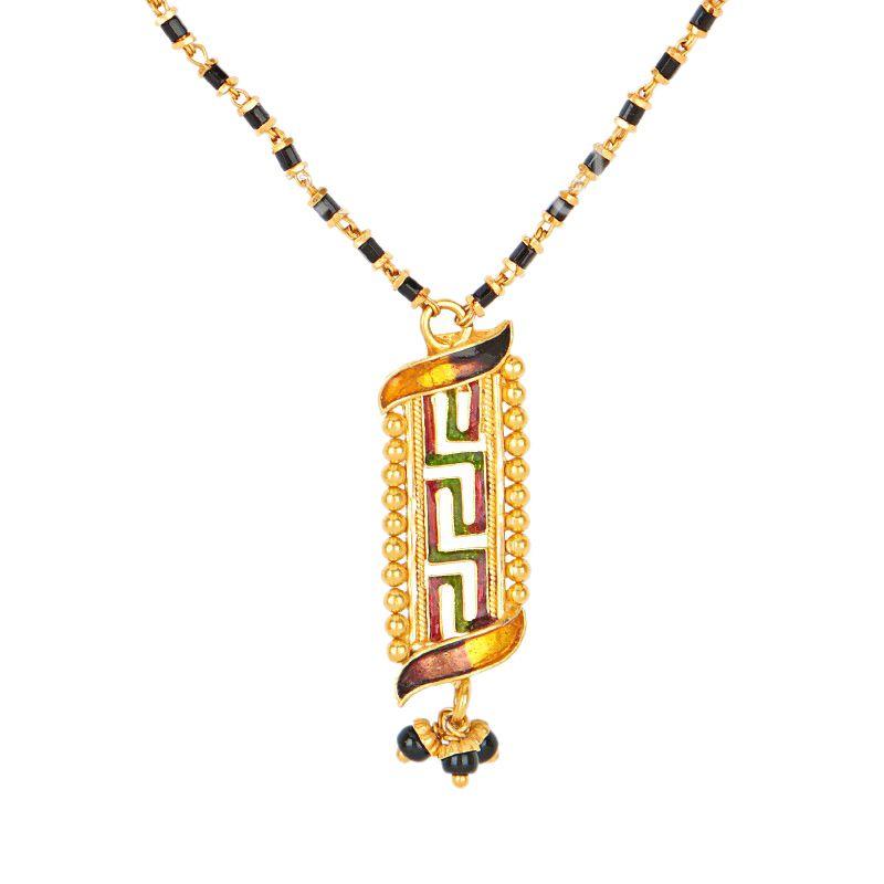 22k Gold Pendant Mangalsutra