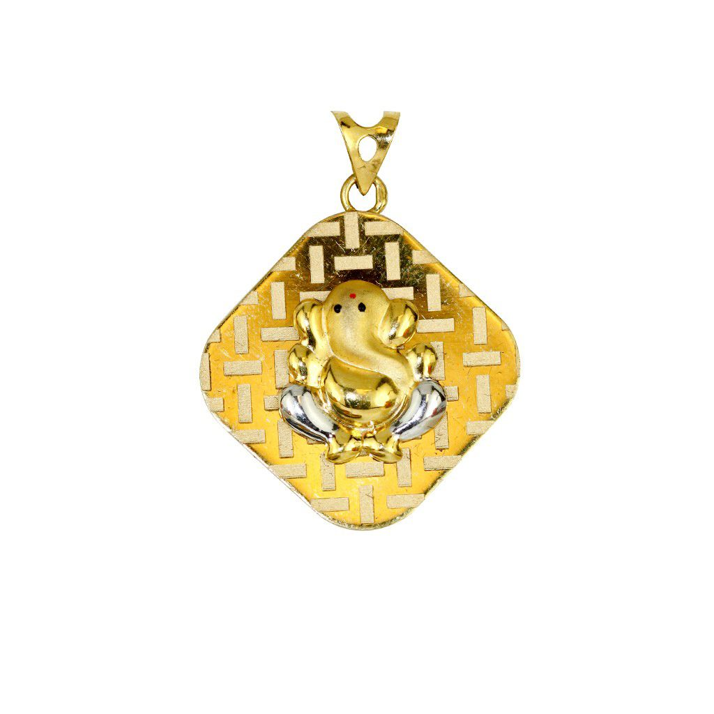22k Gold Lord Ganesh God Pendant