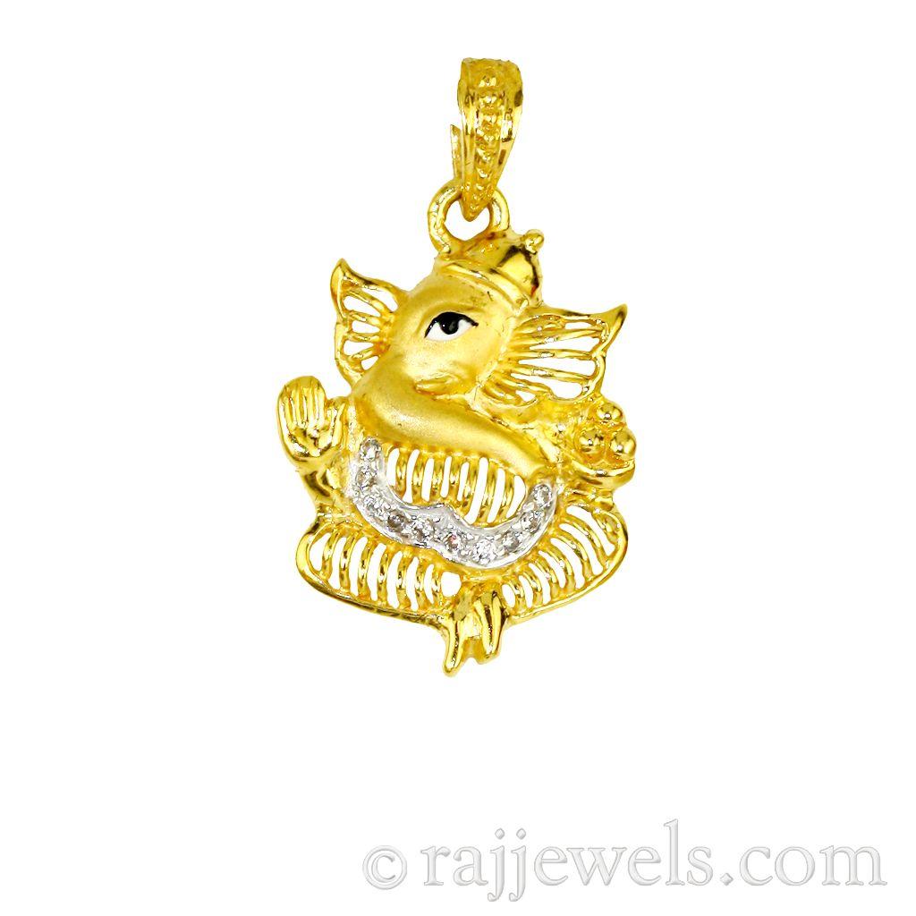 22k Gold 22K Gold Lord Ganesh Pendant