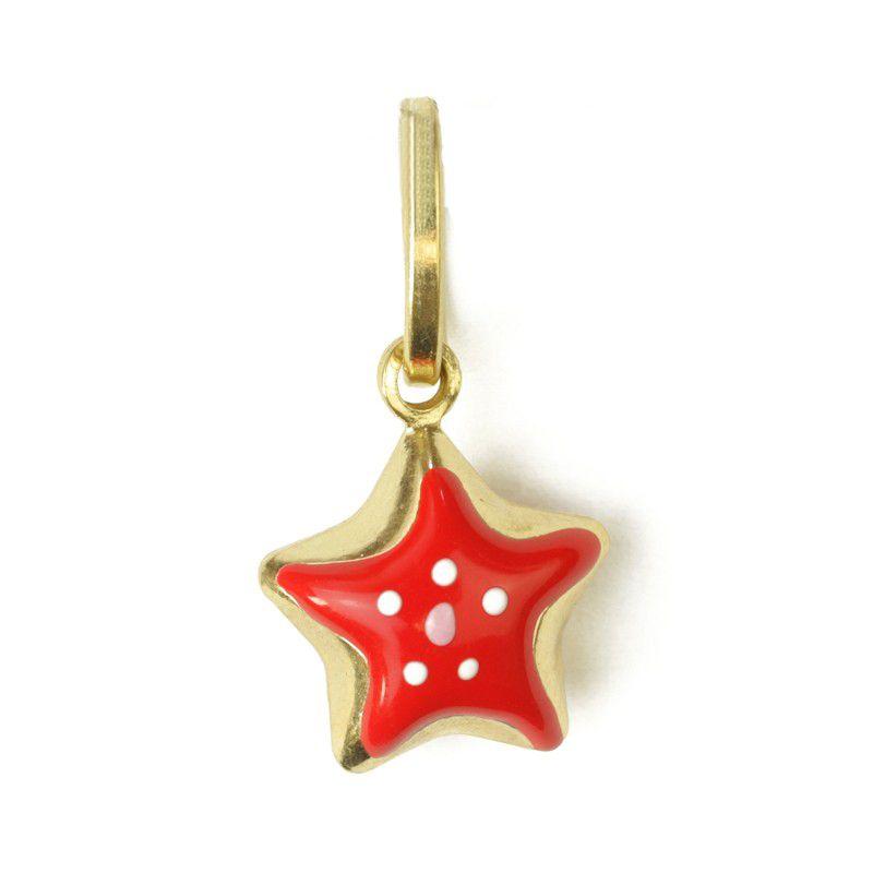 18k Gold Starfish Gold Pendant