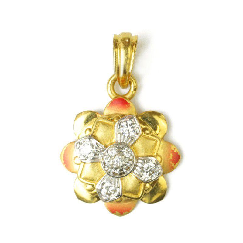 22k Gold Daisy Flower Pendant