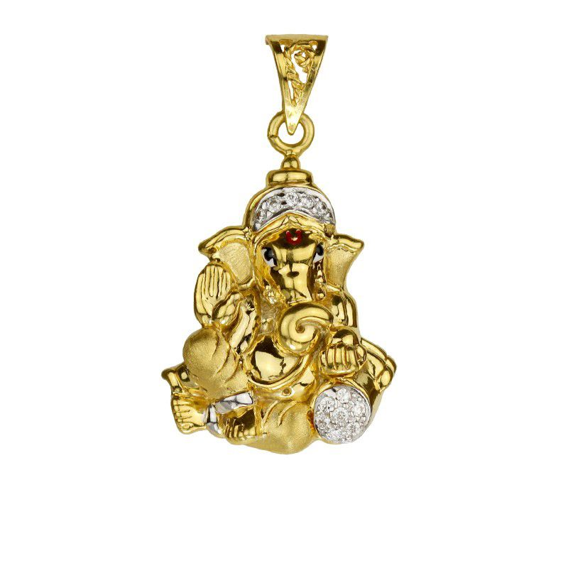 22k Gold 22K Yellow Gold Lord Ganesh Pendant