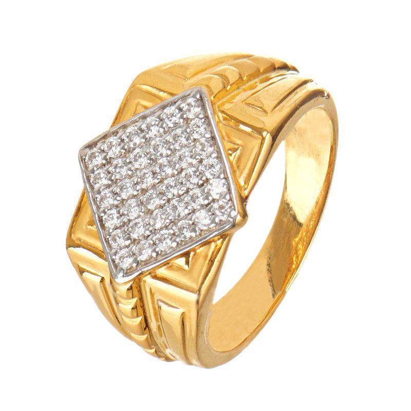 22k Gold Striking CZ Diamond Ring