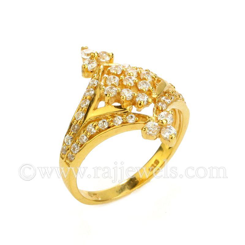 22k Gold Victoria CZ Ring