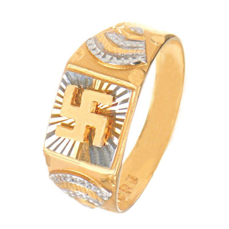 22k Gold Swastic Symbol Ring