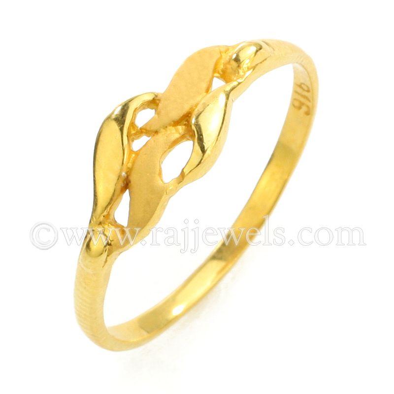 22k Gold Gold Wave Ring
