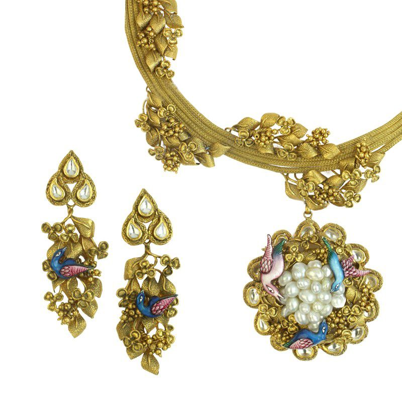 22k Gold Miza Antique Necklace