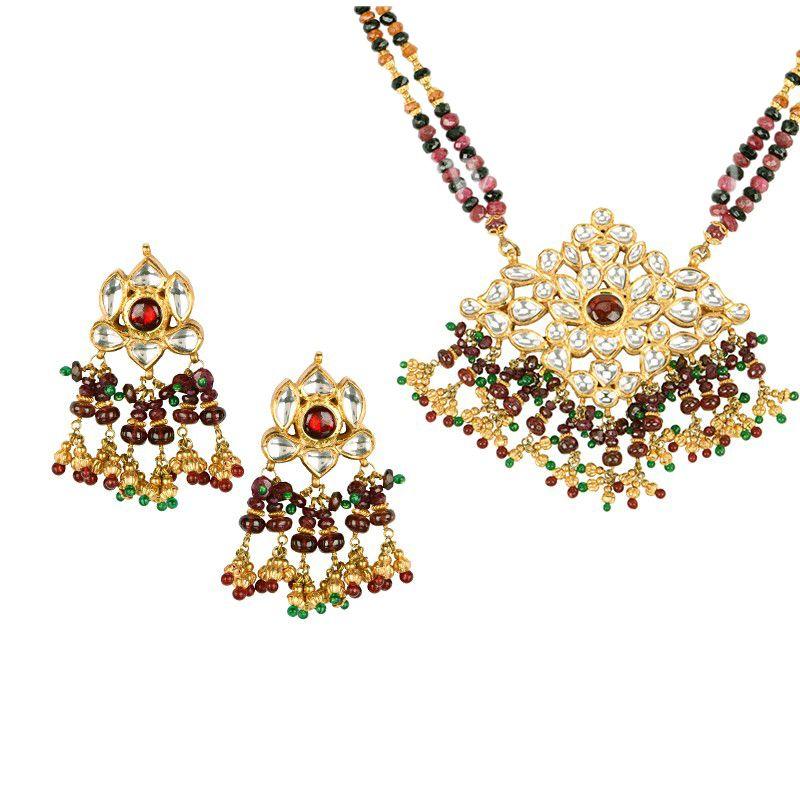 22k Gold Riwaaz Kundan Necklace