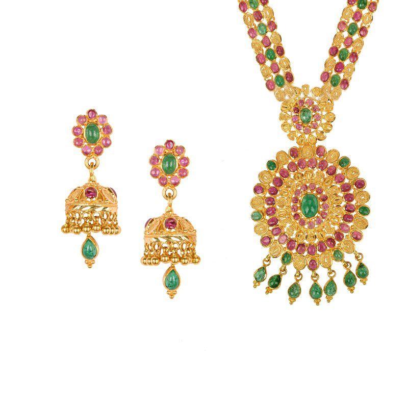 22k Gold Vasanti Gems Gold Necklace