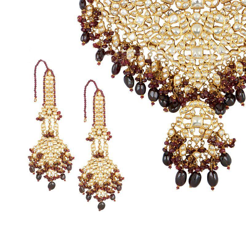 22k Gold Kundan Bridal Necklace