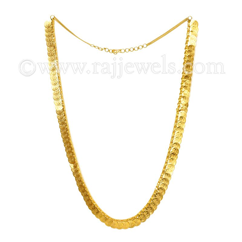 22k Gold Lakshmi Kasu Mala Necklace