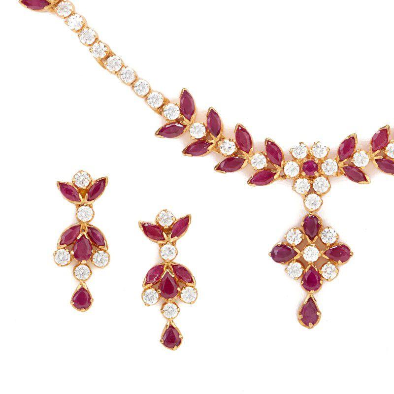 22k Gold Ravish Ruby Necklace