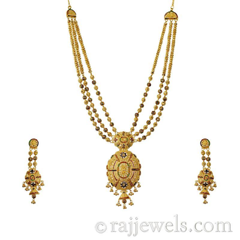 22k Gold Minakari Gold Necklace