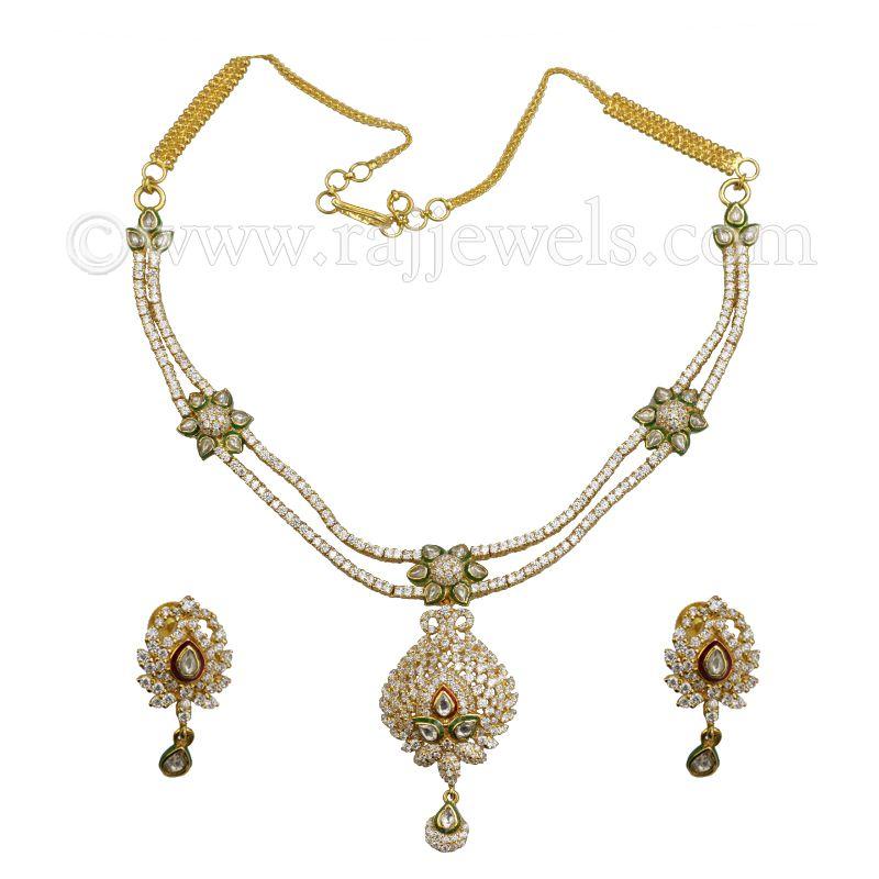 22k Gold Kundan Gold Necklace