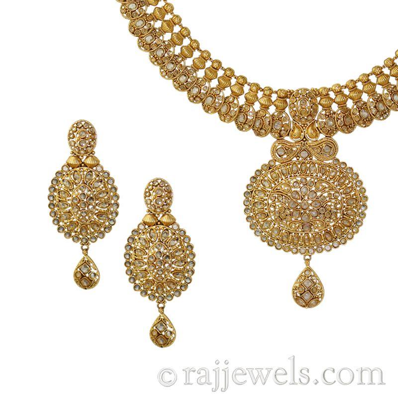22k Gold Kanika Antique Necklace