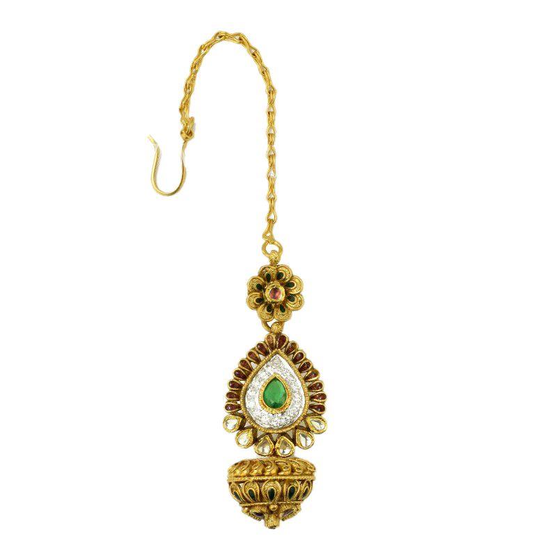 22k Gold Rajasthani Borla Maang Tikka
