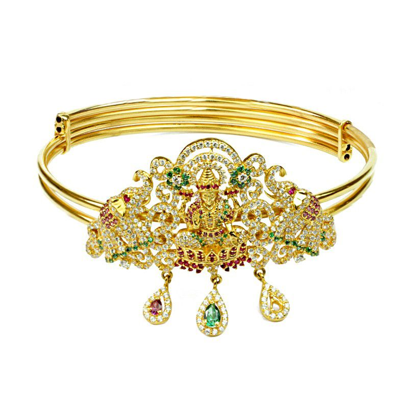 22k Gold Cz Lakshmi Vanki (armlet)