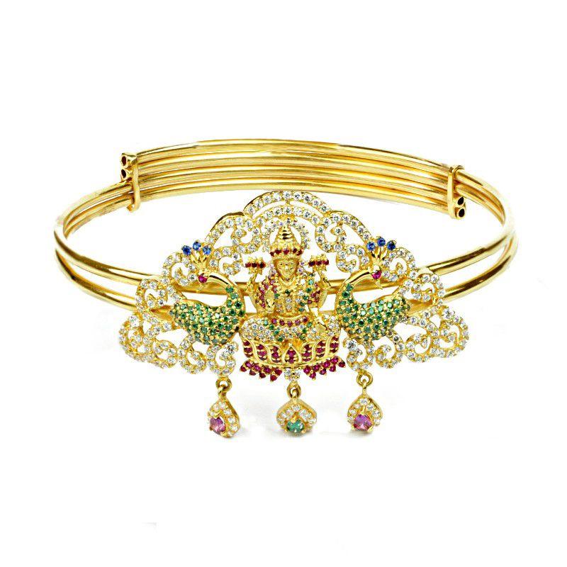 22k Gold Colorful Lakshmi Cz Vanki