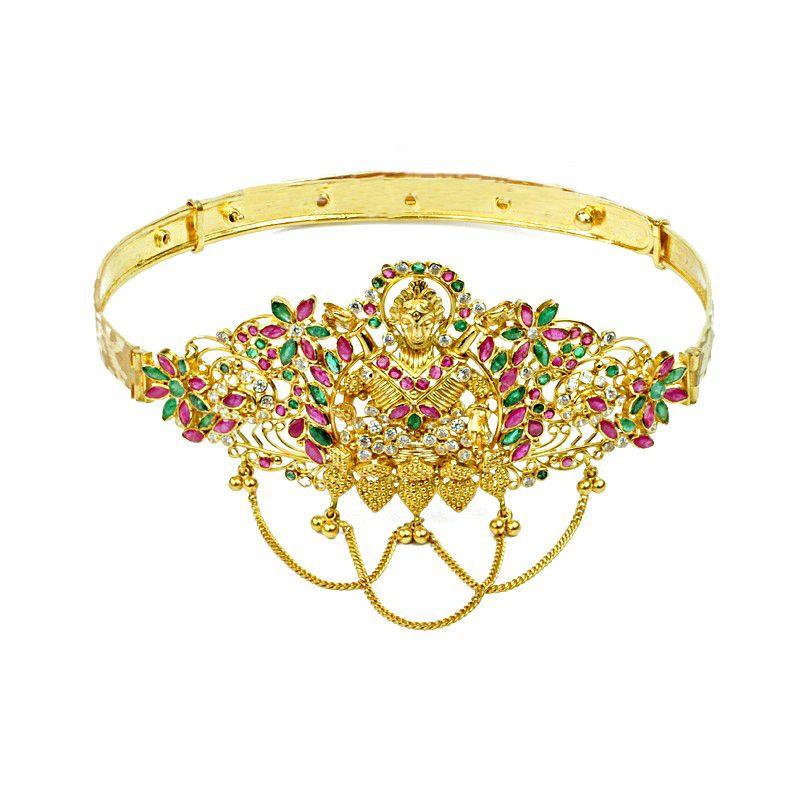 22k Gold Gemstones CZ Lakshmi Vanki