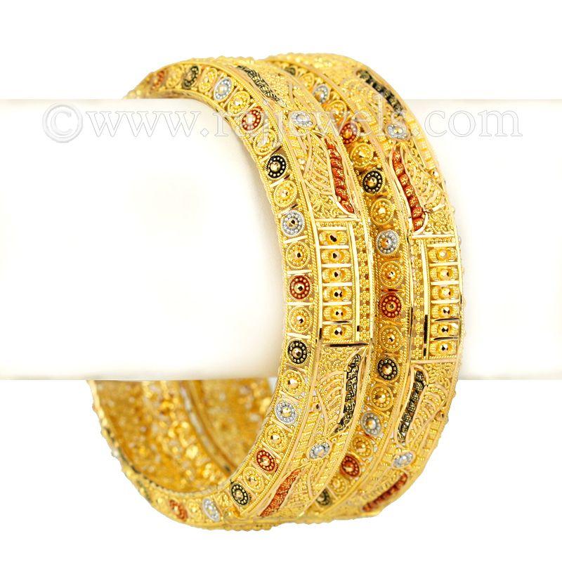 22k Gold Rawabi Gold Bangles