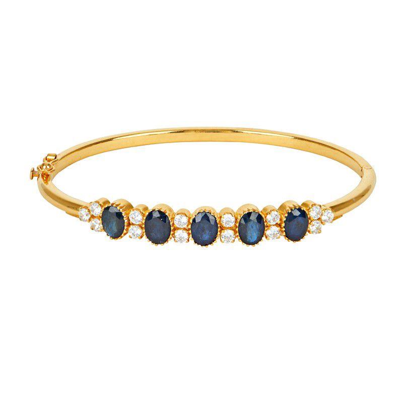 22k Gold Sapphire & Cz Bracelet