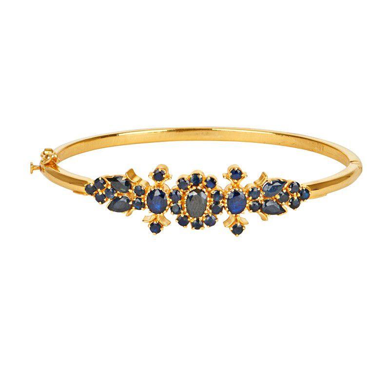 22k Gold Kirsh Sapphire Bracelet