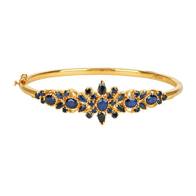 22k Gold Bliss in Blue Bracelet
