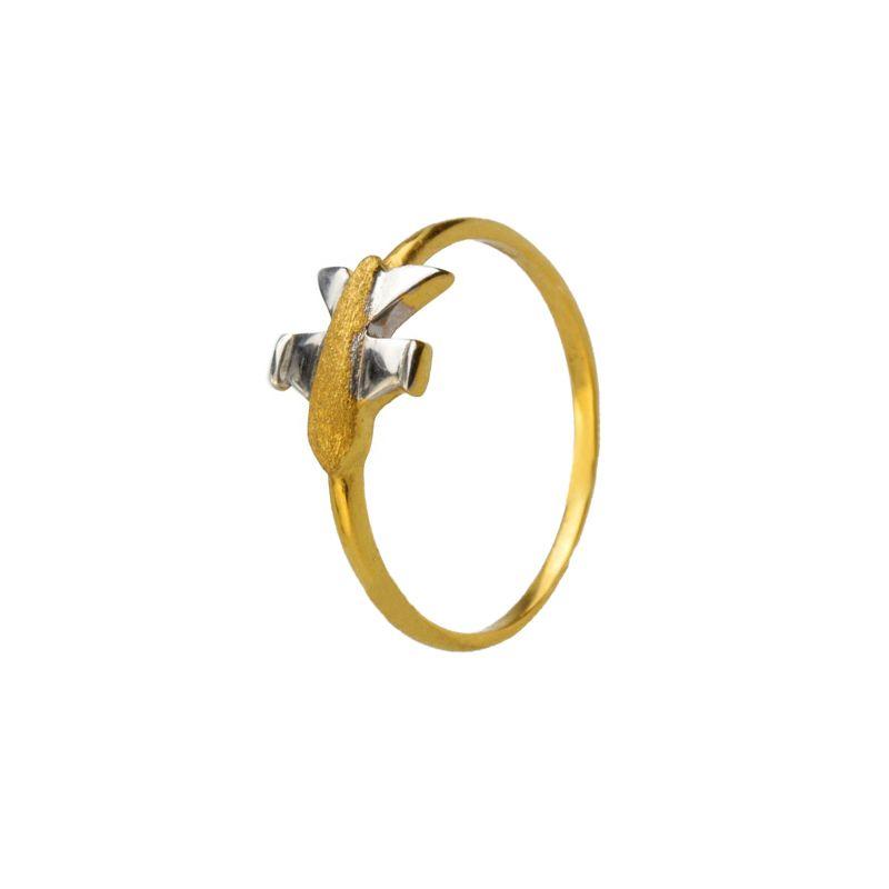 22k Gold Aeroplane Baby Ring