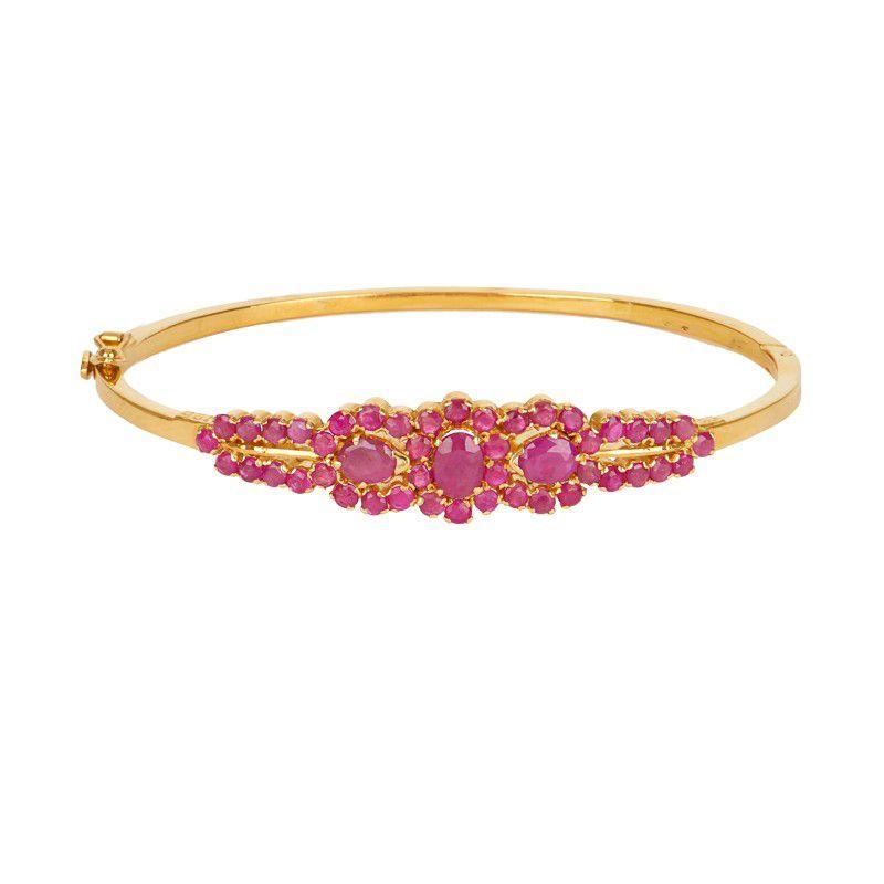 22k Gold Royal Red Bangle Bracelet