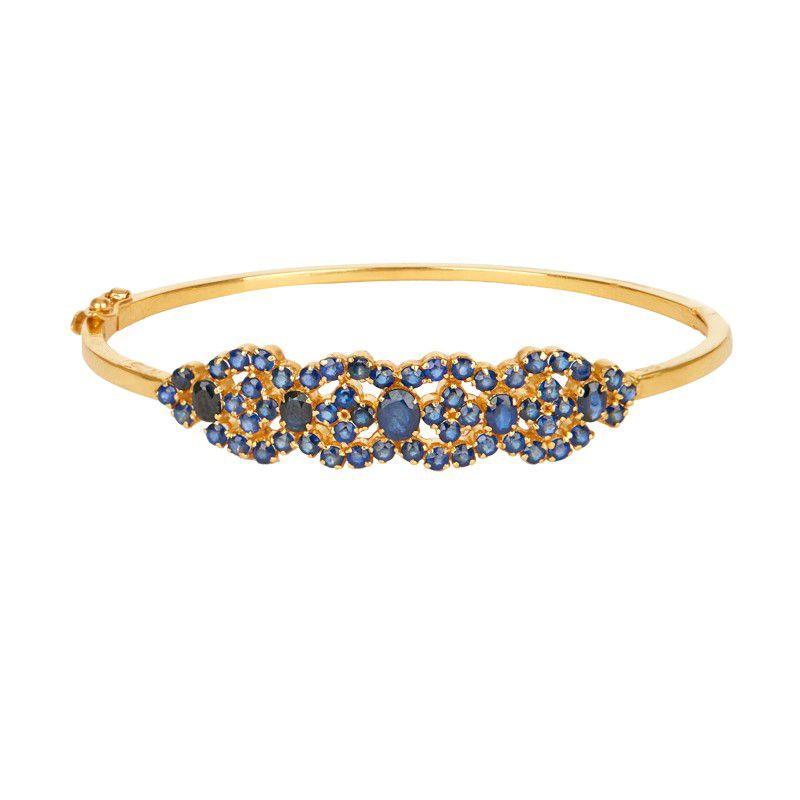 22k Gold Bedazzled Sapphire Bracelet