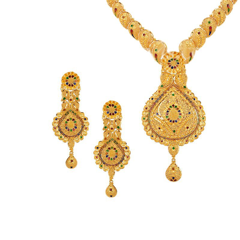 Gold Dangle Style Enamel Delight
