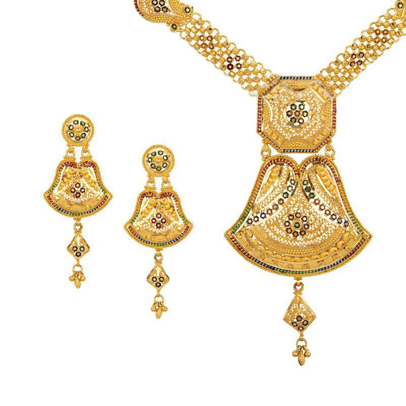 22k Gold Dangle Gold Necklace