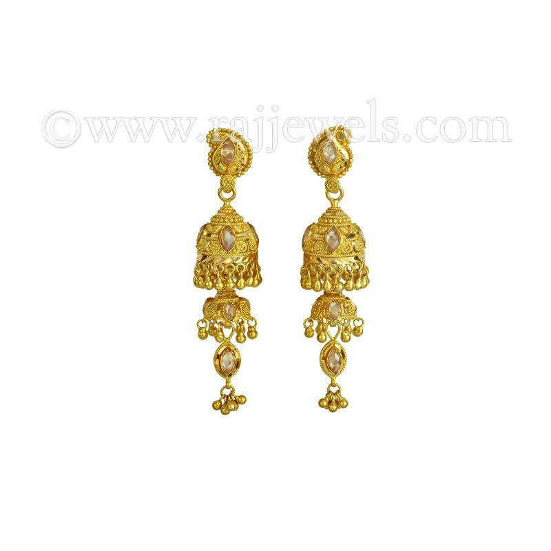 22k Gold Mango Jhumka Earrings