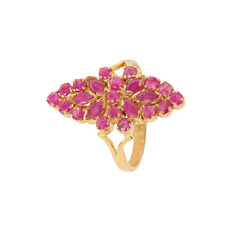 Rubicund Gemstone Ring | Raj Jewels
