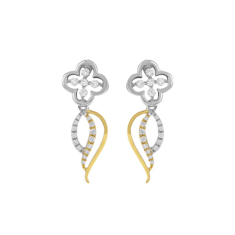 Floral Diamond Stud Drops