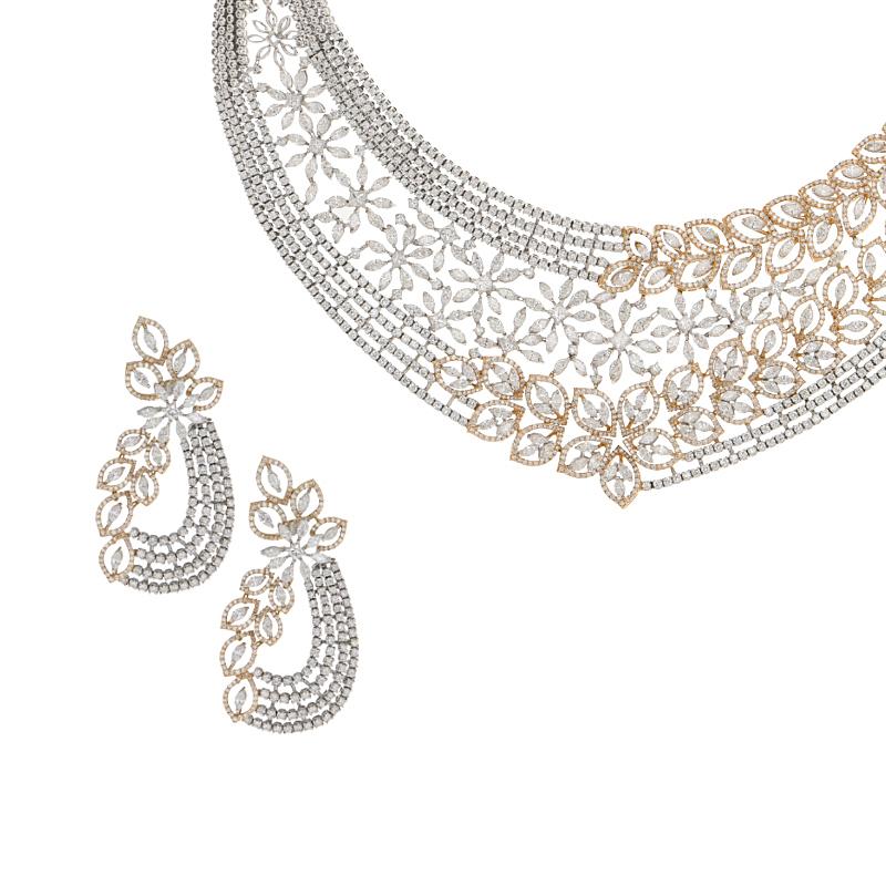 Luxurious Diamond Statement Necklace